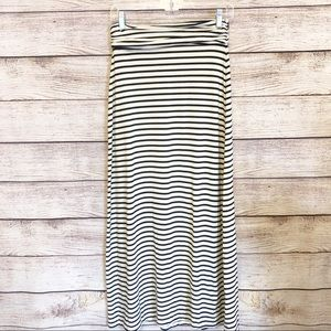 J Crew Striped Maxi Skirt